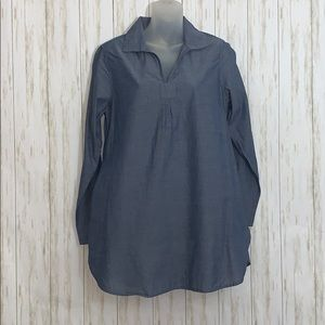 Sz S AJ Andrea Jovine Chambray Tunic with Pockets